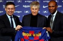 Presentación de Quique Setién como entrenador del Barcelona
